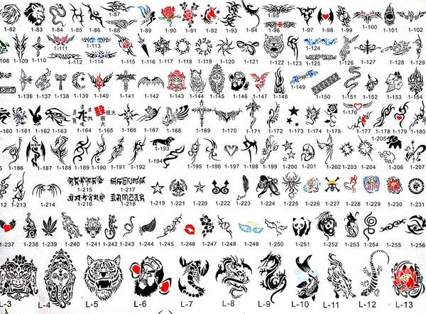 Catalog Photograph - Tattoo Catalog Of Designs by Yali Shi