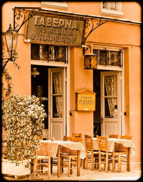 Athens, Greece - Taverna Art Print