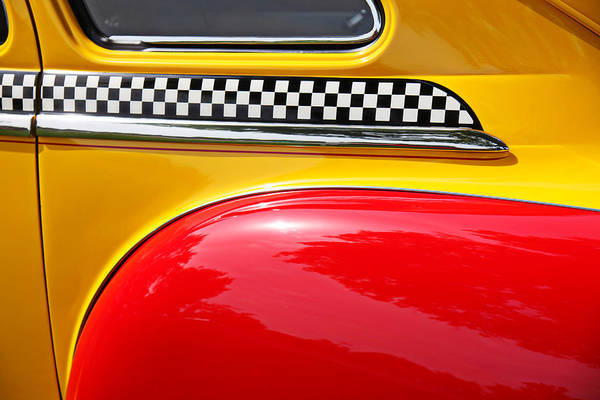 Checker Photograph - Taxi 1946 Desoto Detail by Garry Gay
