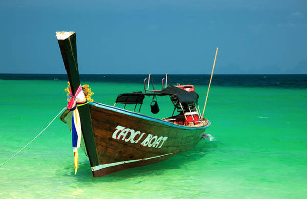 Crystal Coast Photograph - Taxi Boat by Adrian Evans