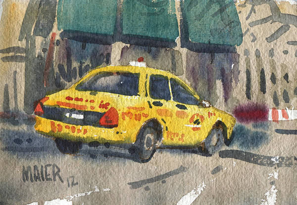 Taxi Painting - Taxi by Donald Maier