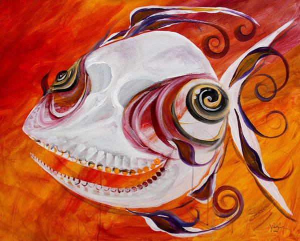 T.b. Chupacabra Fish Art Print