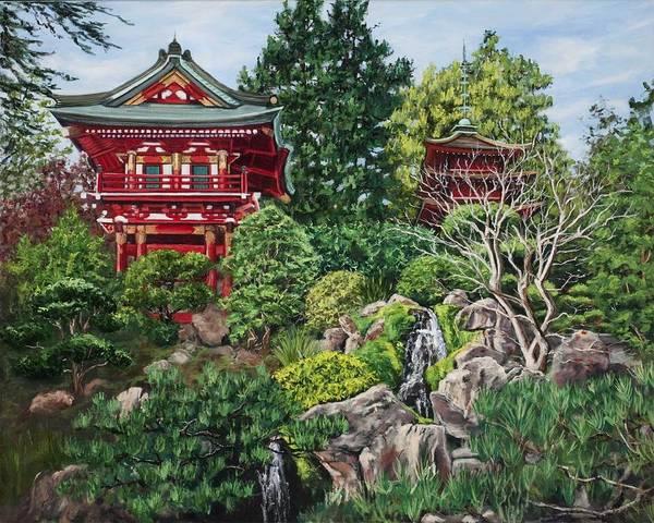 Wall Art - Painting - Tea Garden by Lisa Reinhardt
