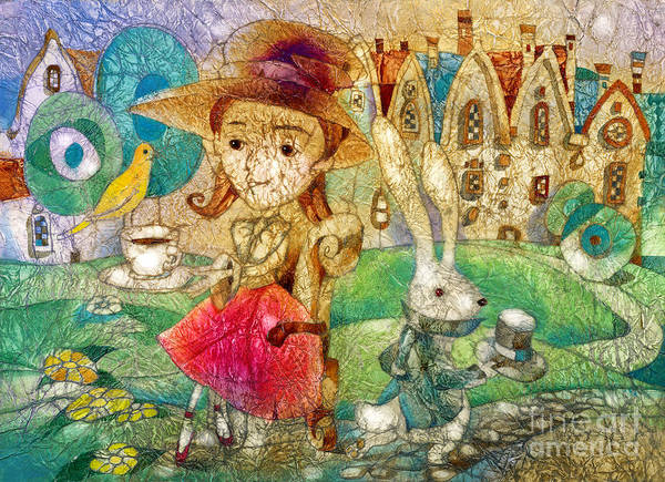 Wall Art - Mixed Media - Tea Party by Svetlana and Sabir Gadghievs