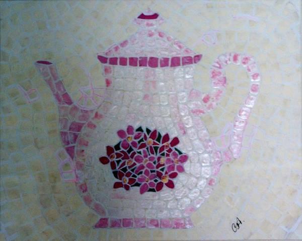 Painting - Tea Pot by Cynthia Amaral