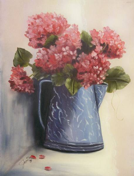 Painting - Tea Pot With Flowers by Joni McPherson