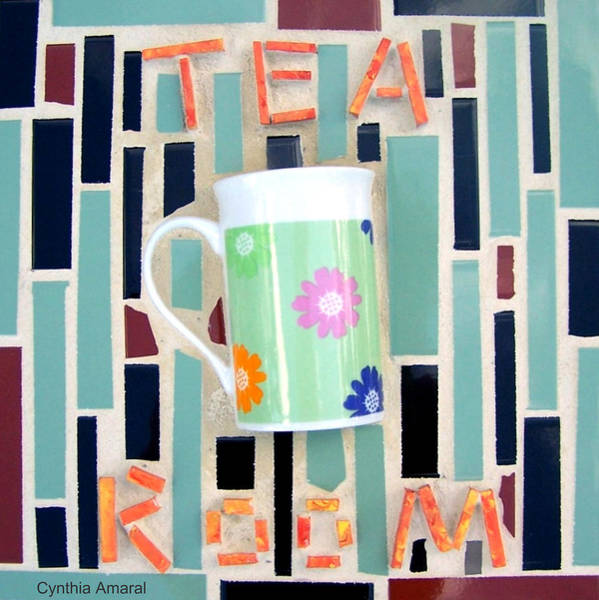 Art Print featuring the mixed media Tea Room by Cynthia Amaral