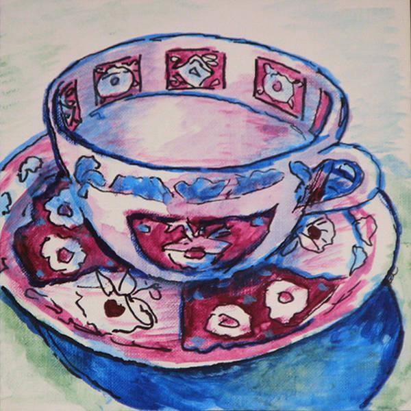 Wall Art - Painting - Tea Set Sketch 3 by Laura Heggestad