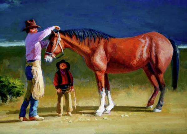 Painting - Teaching The Boy by Mel Greifinger