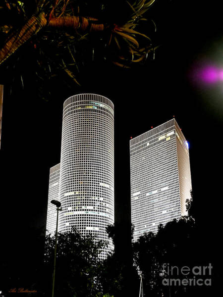 Photograph - Tel Aviv Azrieli Towers 03 by Arik Baltinester
