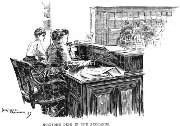 Photograph - Telephone Exchange, 1891 by Granger