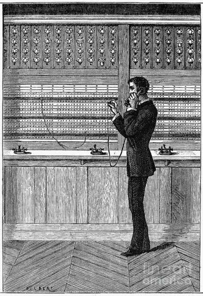 Photograph - Telephone Operator, 1880 by Granger