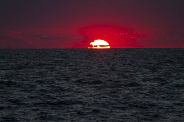 Photograph - Telephoto Red Sunrise by Sven Brogren