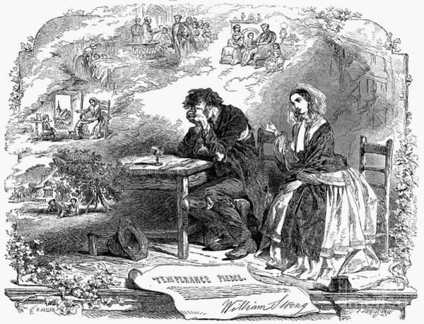 Temperance Movement Photograph - Temperance, 1869 by Granger
