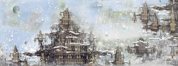 Fractal Landscape Digital Art - Temples Of The North by Phil Sadler