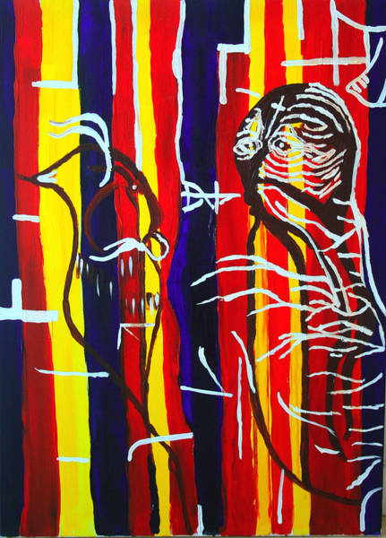 Forty Painting - Temptation Of Jesus by Gloria Ssali