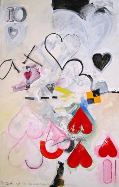 Painting - Ten Of Hearts 1-52 by Cliff Spohn