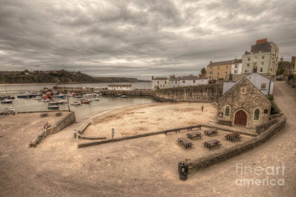 West Wales Photograph - Tenby Harbour  by Rob Hawkins