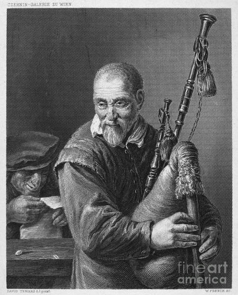 Bagpipe Wall Art - Photograph - Teniers: The Bagpiper by Granger