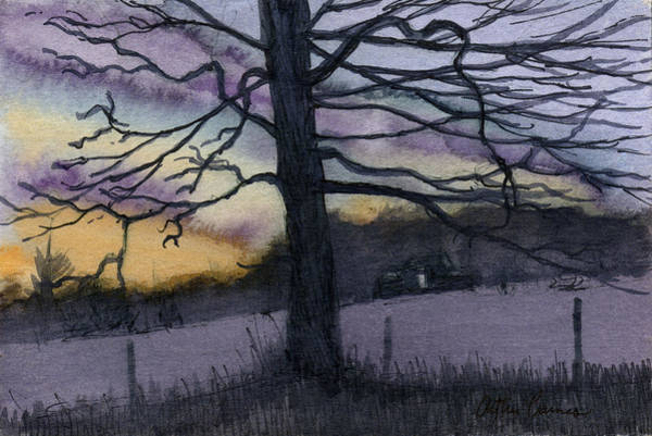 Ashes Painting - Tennessee Dusk by Arthur Barnes
