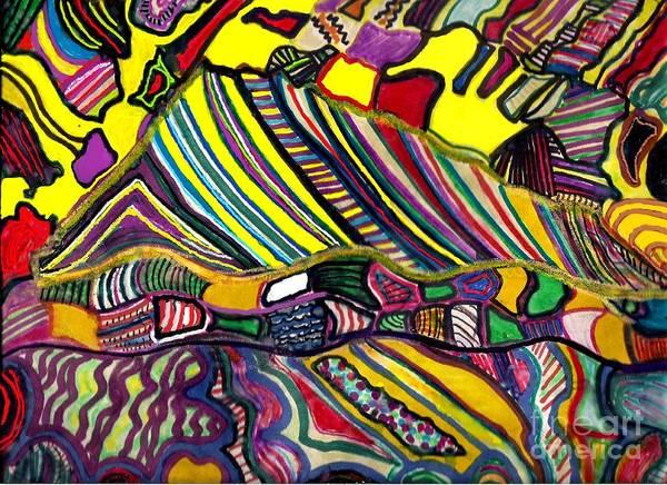 Sax Drawing - Tent by Darlyne Sax