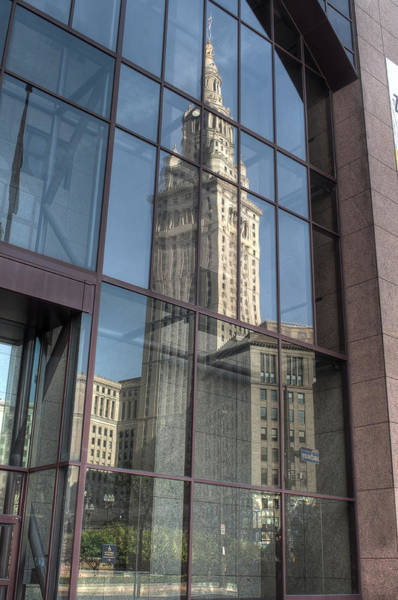 Photograph - Terminal Tower Reflection by At Lands End Photography