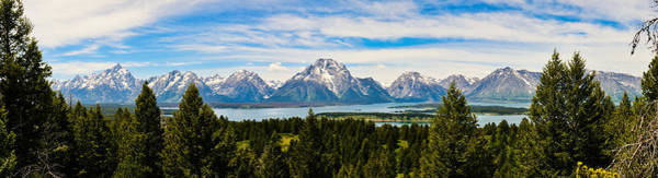 Photograph - Teton June Panorama by Greg Norrell