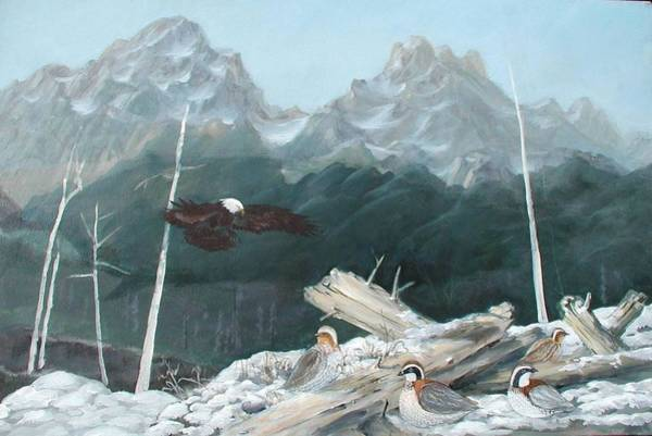 Painting - Teton Mountains by Gary Partin