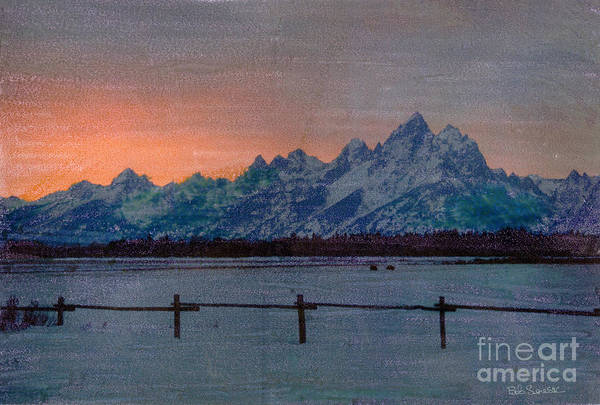 Photograph - Teton Sunset by Bob Senesac