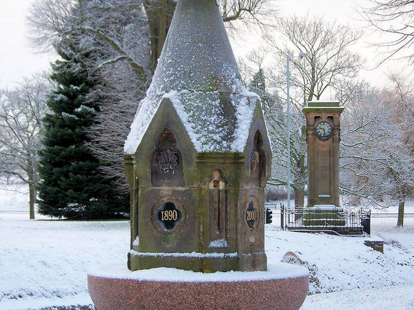 Tettenhall Village Snow Art Print
