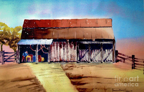 Painting - Texas Barn by Genevieve Brown