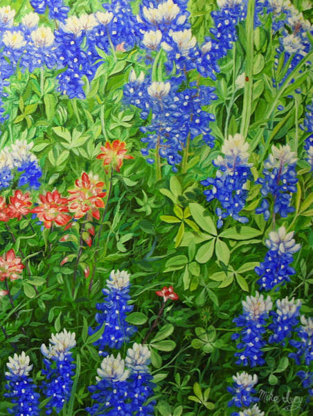 Painting - Texas Blues by Mike Ivey
