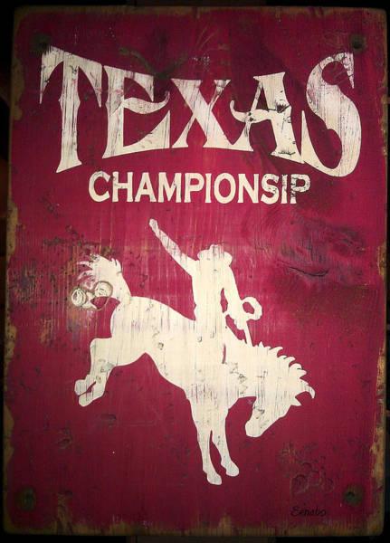 Photograph - Texas Championsip by Eena Bo