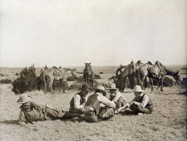 Photograph - Texas: Cowboys, C1906 by Granger
