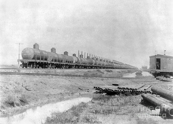 Photograph - Texas: Oil Tank Cars, C1901 by Granger