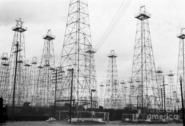 Photograph - Oil Wells, 1943 by Granger