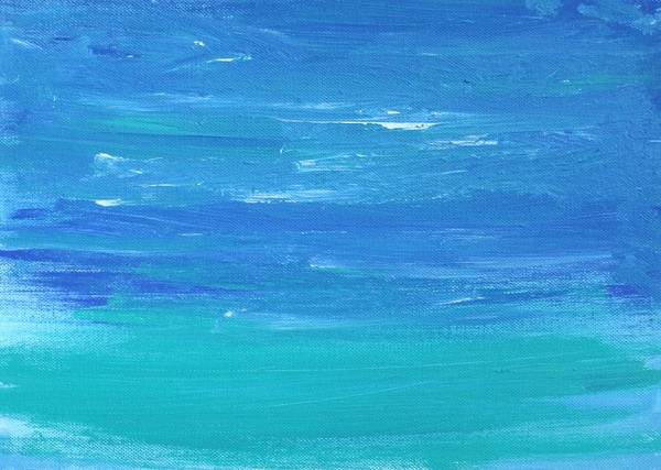 Wall Art - Painting - Textured Sea by Artist Named Iesha