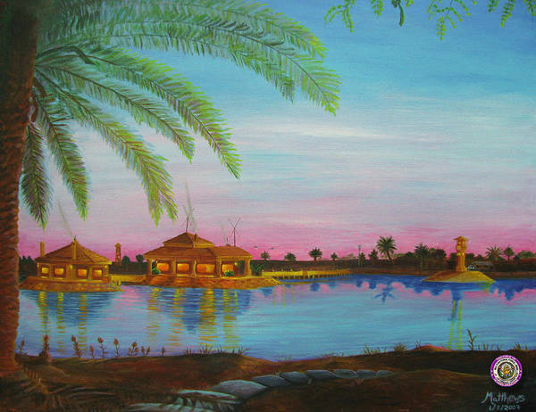 Baghdad Painting - Tf 134 Headquarters With Fig Tree by Michael Matthews