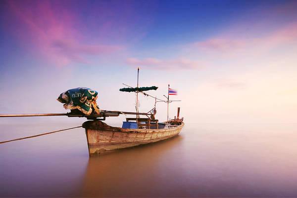 Wall Art - Photograph - Thai Boat by Teerapat Pattanasoponpong