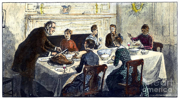 Photograph - Thanksgiving, 19th Century by Granger
