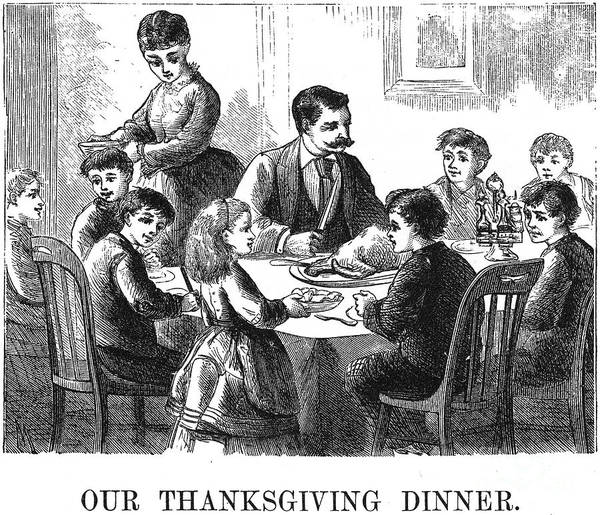 Photograph - Thanksgiving Dinner, 1873 by Granger