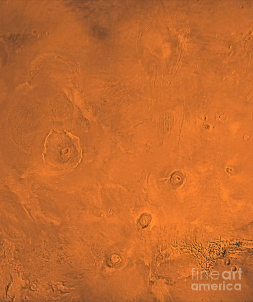 Photograph - Tharsis Region Of Mars by Stocktrek Images