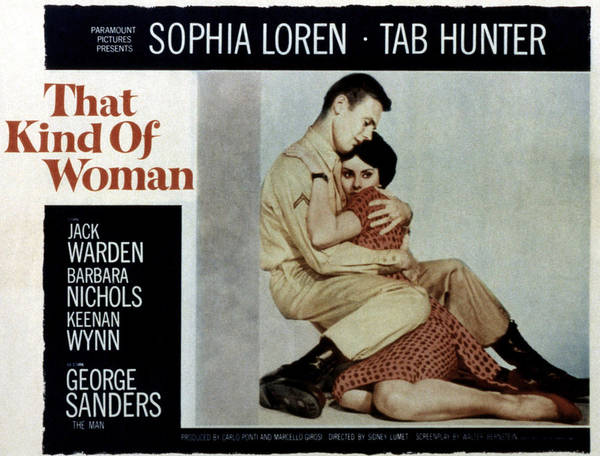 Tab Photograph - That Kind Of Woman, Tab Hunter, Sophia by Everett