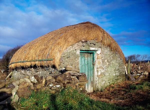 Horizontally Photograph - Thatched Shed, St Johns Point, Co by The Irish Image Collection