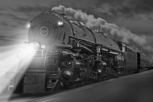 Railroad Station Photograph - The 1218 On The Move by Mike McGlothlen