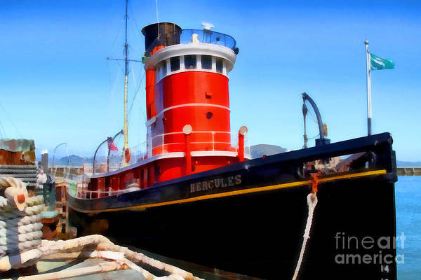 Photograph - The 1907 Hercules Steam Tug Boat . 7d14141 by Wingsdomain Art and Photography