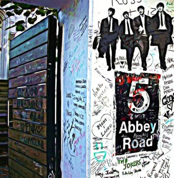 Ringo Star Mixed Media - The Abbey Wall by Lauranns Etab