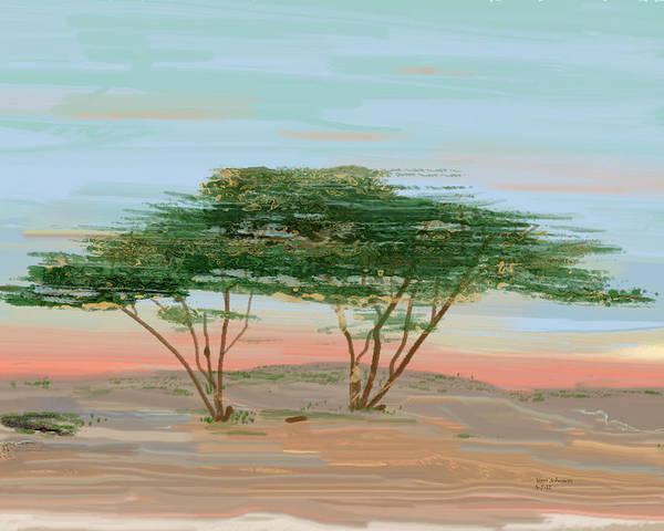 East Africa Digital Art - The Acacia by Terri Johnson