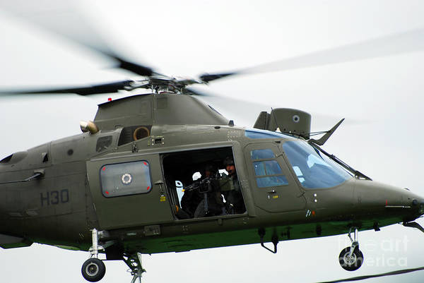 Agustawestland Photograph - The Agusta A109, Used By The Belgian by Luc De Jaeger