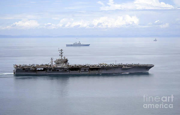 Uss George Washington Wall Art - Photograph - The Aircraft Carrier Uss George by Stocktrek Images
